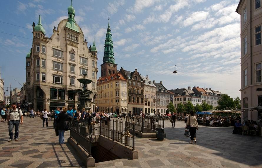Stroget Koppenhága